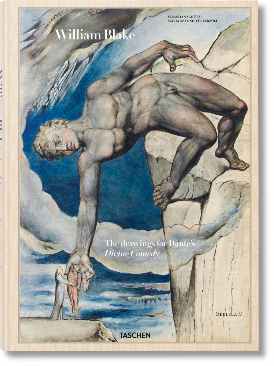 Antaeus Dante/'s Divine Comedy William Blake Illustrations Fine Art Print