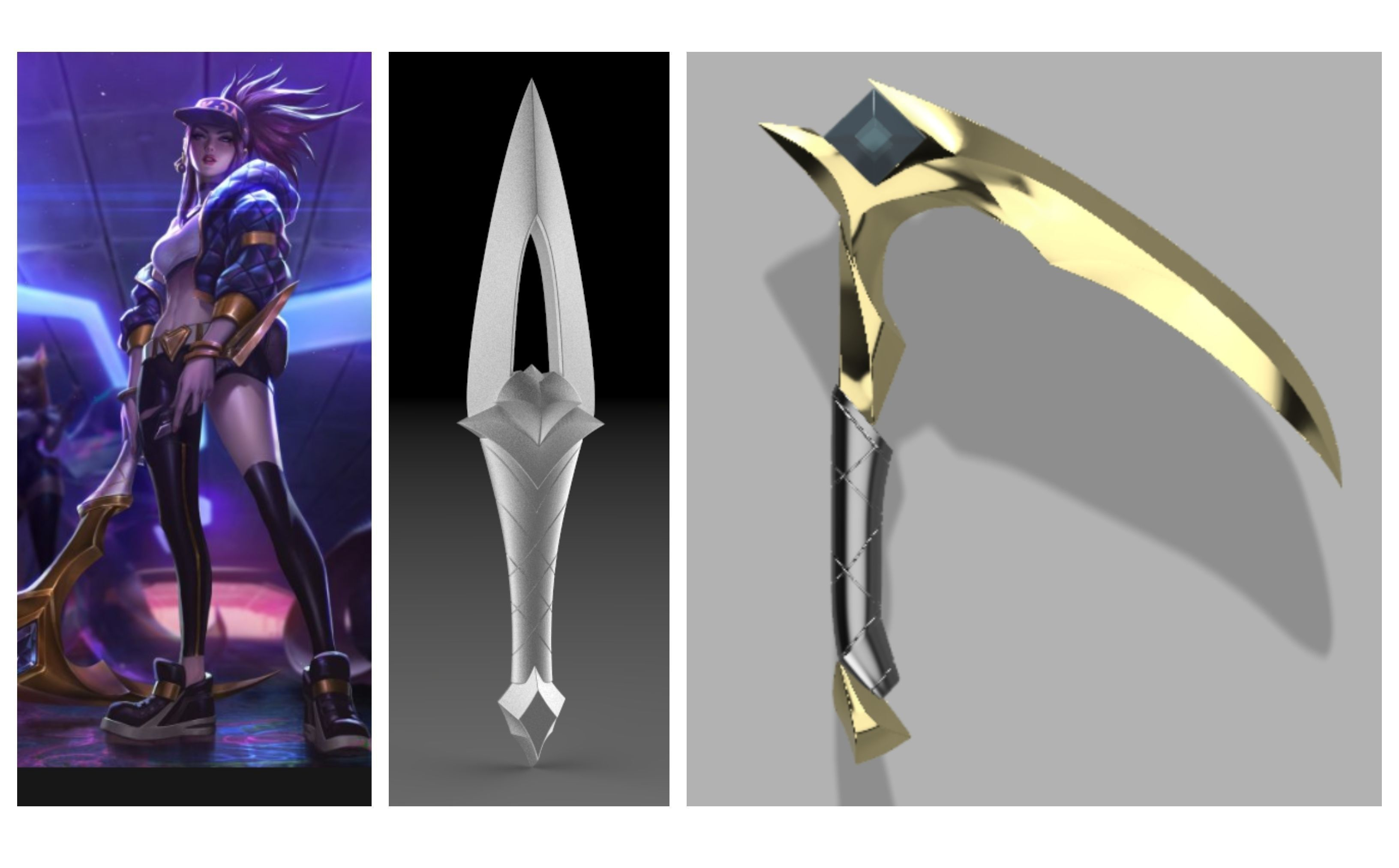 Costume Props Provided Lol Kda Akali Sword Weapons Cosplay Costume Props Accessories Sickle And Dagger Set