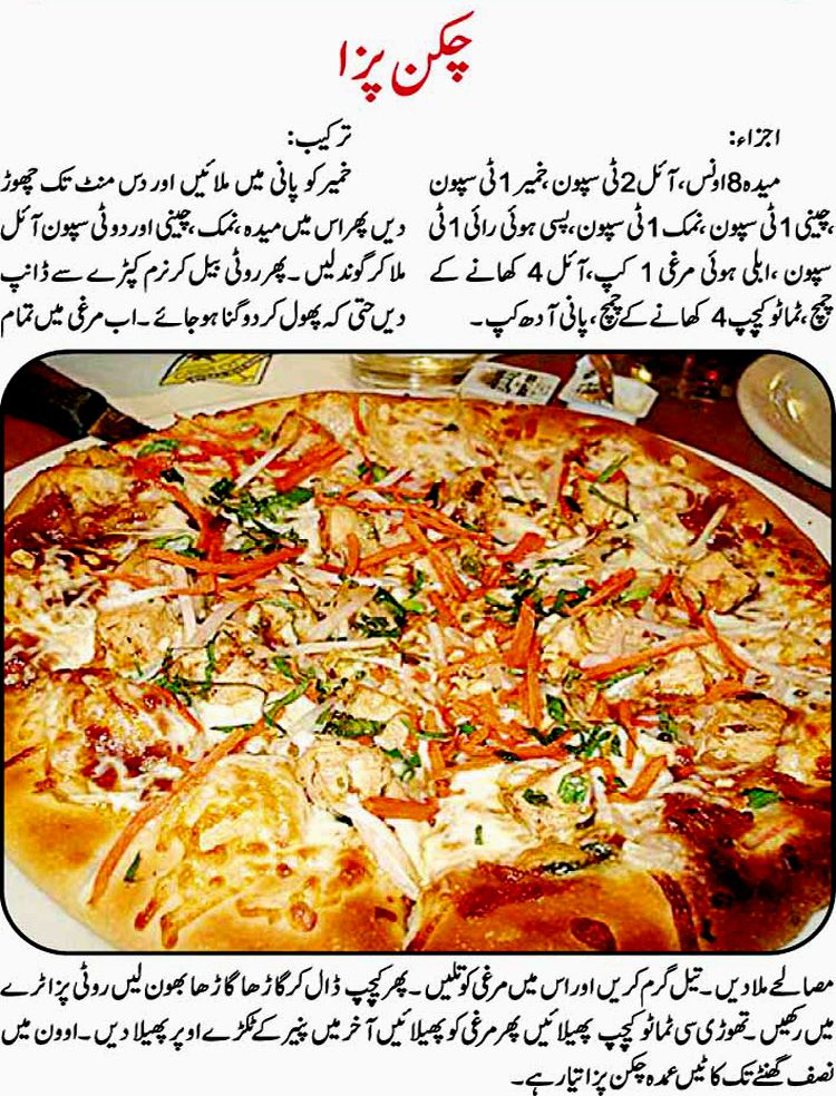 chicken pizza recipe in urdu