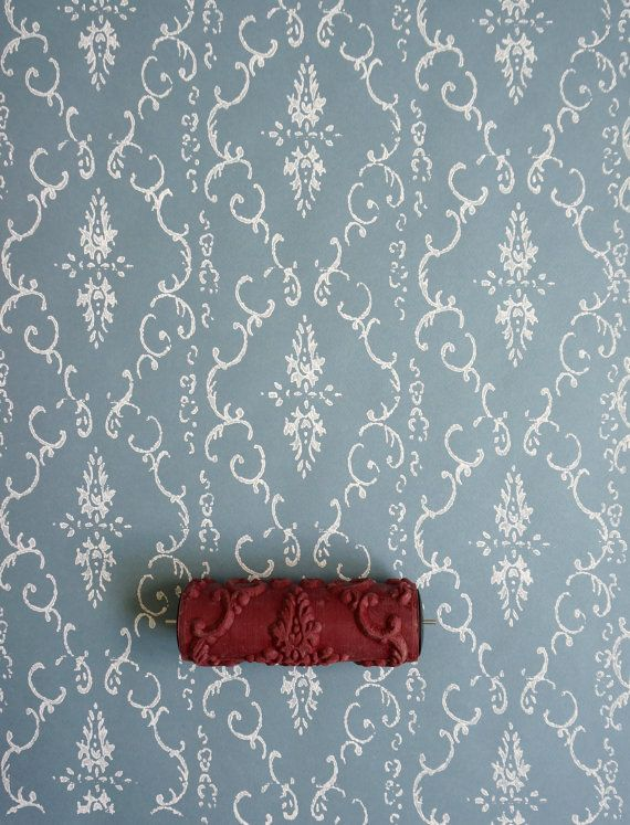 Damask Patterned Paint Roller No.29 from Paint & Courage