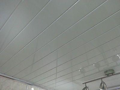 2 twin white pvc panels decorative bathroom cladding