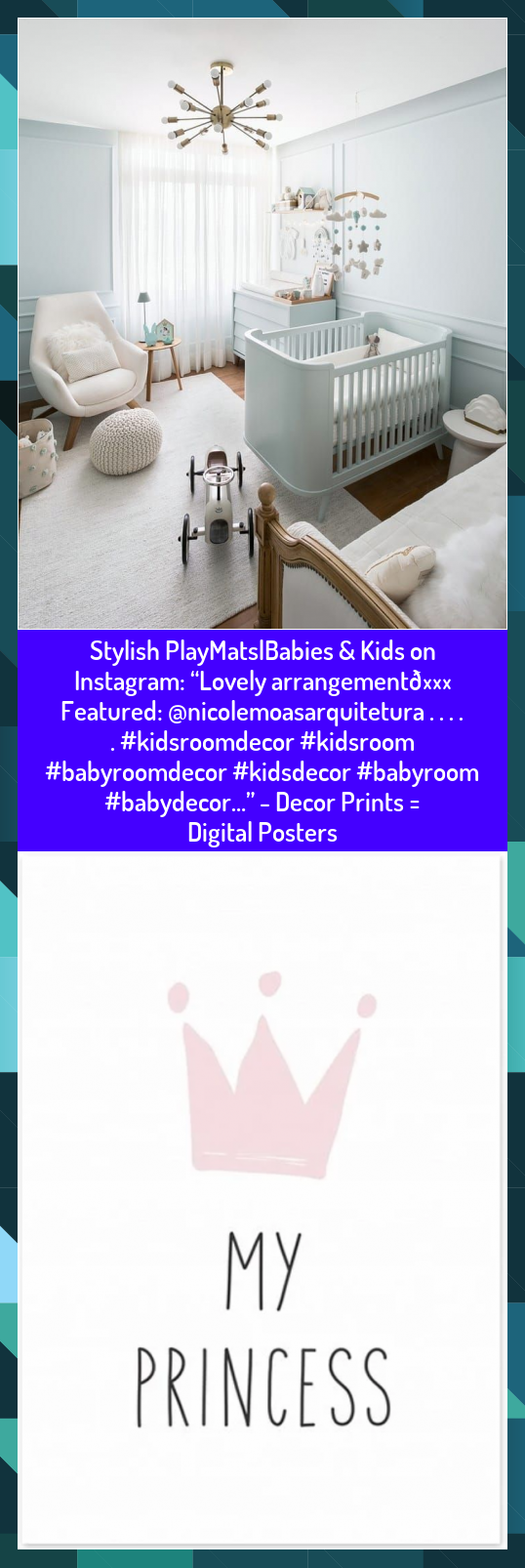 "Stylish PlayMats|Babies & Kids on Instagram: ""Lovely arrangement💖 Featured: @nicolemoasarquitetura . . . . . #kidsroomdecor #kidsroom #babyroomdecor #kidsdecor #babyroom #babydecor…"" - Decor Prints = Digital Posters #arrangement #babydecor #babyroom #babyroomdecor #Decor #Digital #Featured #Instagram #Kids #kidsdecor #kidsroom #kidsroomdecor #LOVELY #nicolemoasarquitetura #PlayMatsBabies #posters #Prints #stylish"
