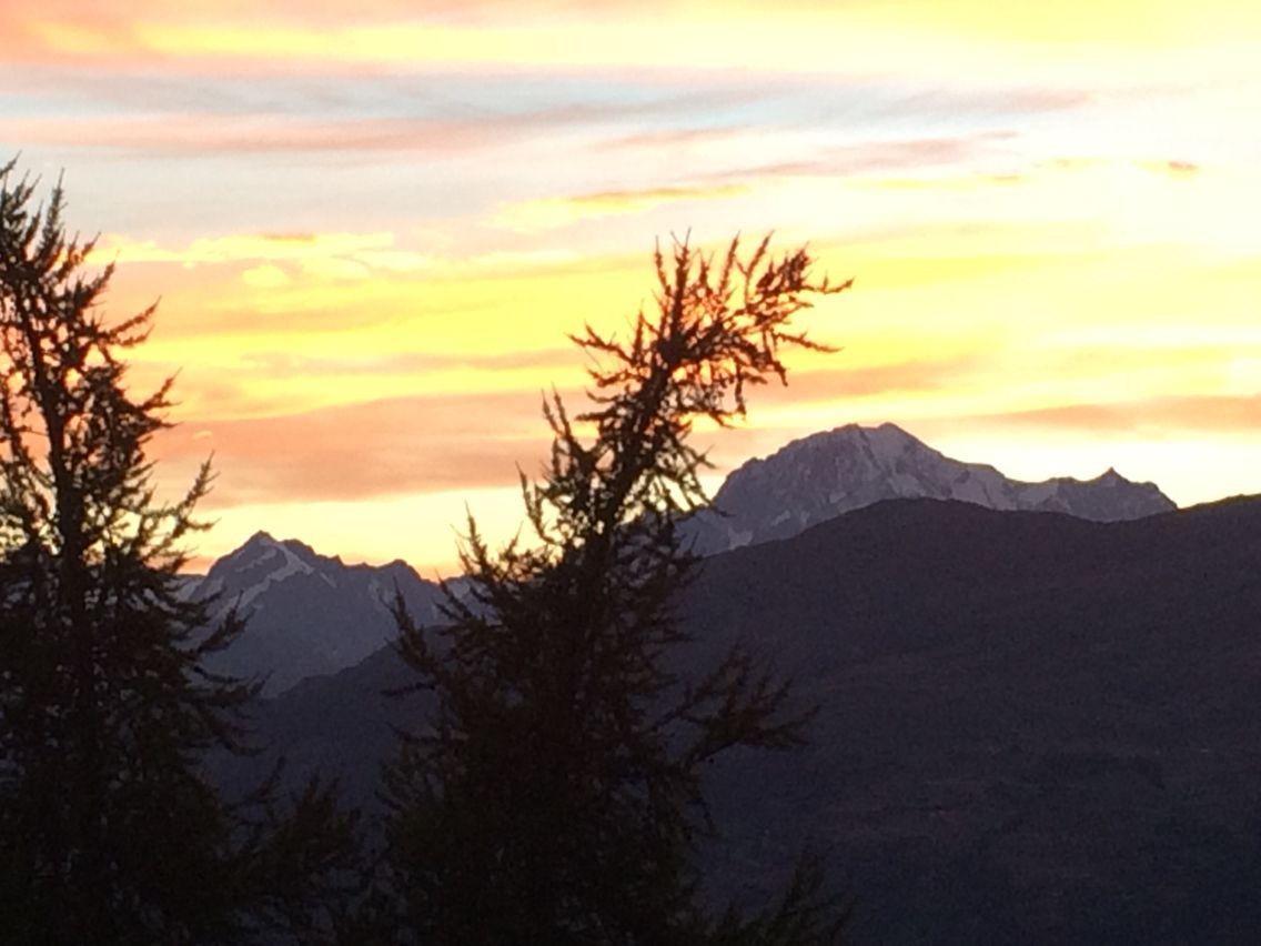 Il Monte Bianco al tramonto