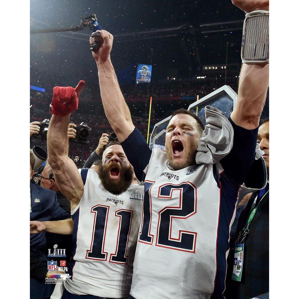 Brady Edelman Celebration 8x10 Carded Photo In 2020 New England Patriots 8x10 Photo Super Bowl