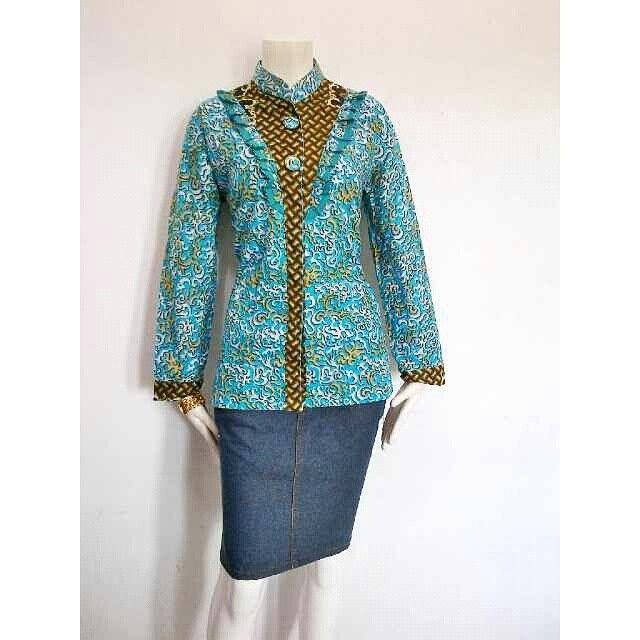 Model Baju Batik Kantor Batik Solo Pakaian Wanita Pakaian Kerja