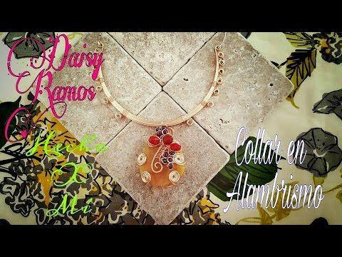 276cfae723fc Collar en Alambrismo DIY Engarce de Agata