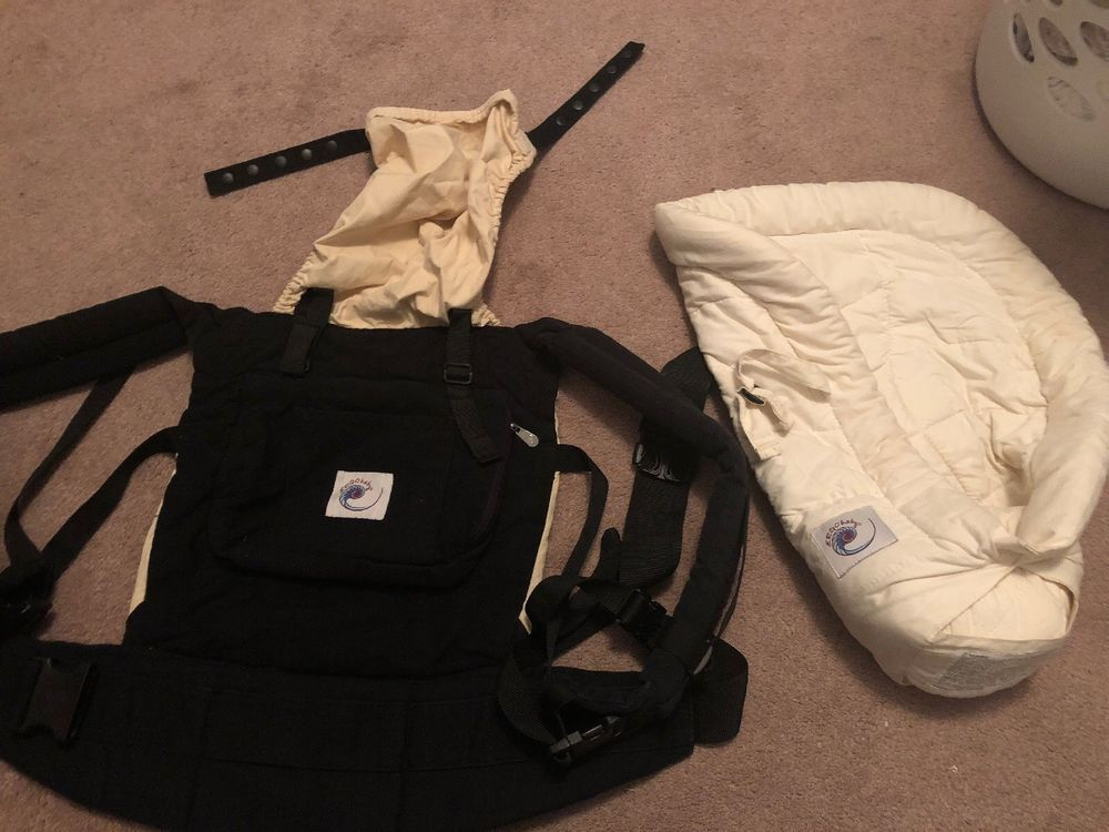 Ergo Baby Original Baby Carrier With Infant Insert Used Good Shape Baby Carrier Ergobaby Ergobaby Carrier