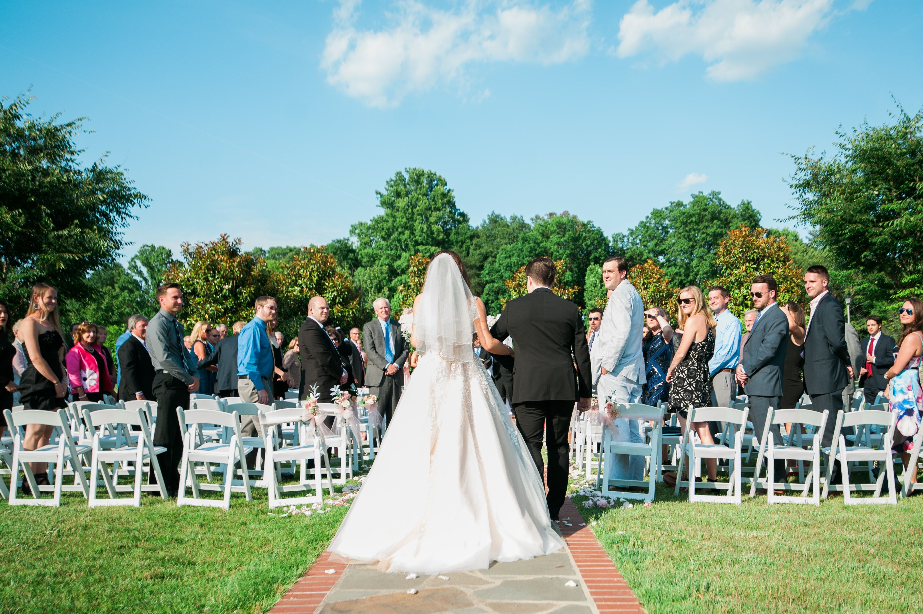 Summer wedding ceremony at Berry Hills Country Club, Charleston, WV ...