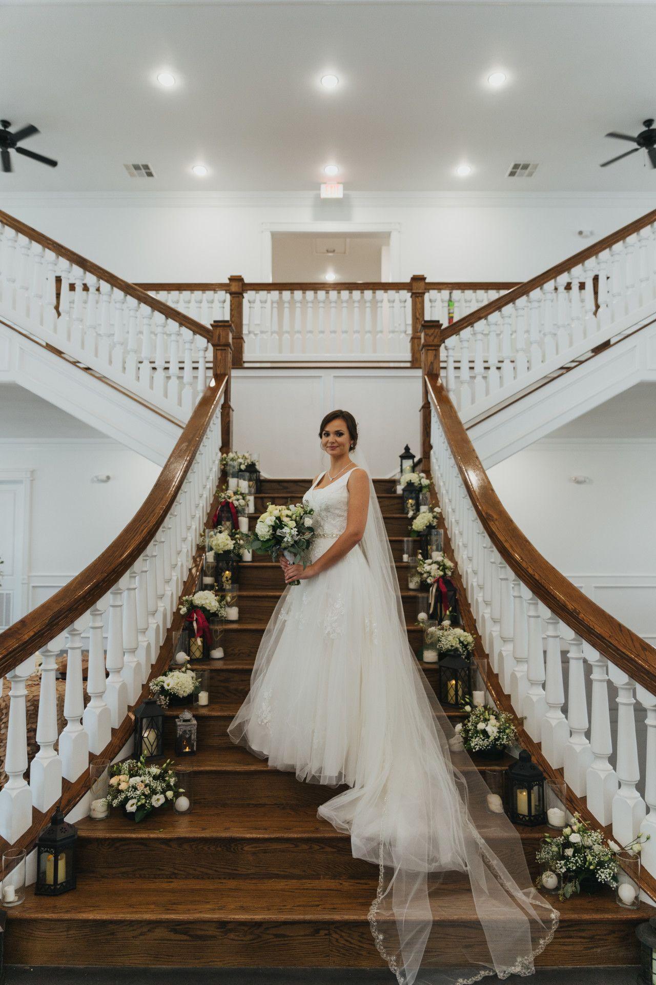 | modern rustic wedding staircase decor | lantern wedding ...