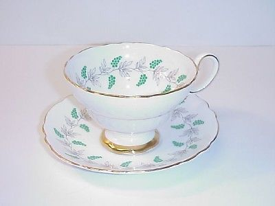 CROWN STAFFORDSHIRE  CUP & SAUCER ENGLAND BONE CHINA
