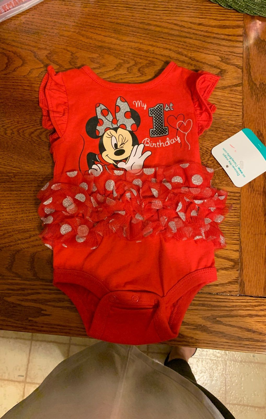 Minnie mouse my 1st birthday onesie baby girl clothes