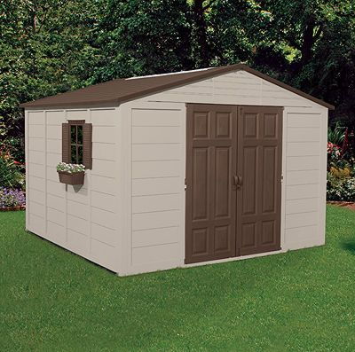 Storage Shed Images Reflects A Suncast 10x10 Storage Shed That Is Produced By Suncast Outdoor Storage Buildings Shed Building Plans Diy Shed Plans