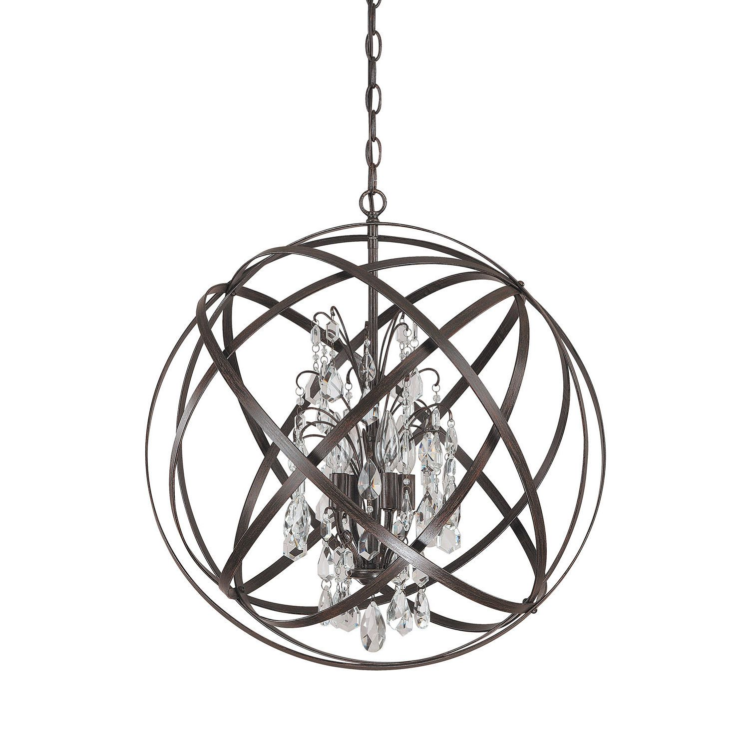Axis Chandelier With Crystals