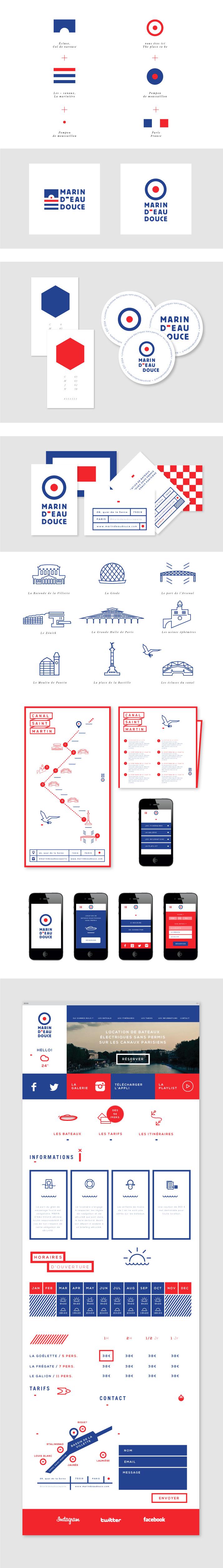 Projet d'identité graphique de la startup Marin d'eau douce - #identity #graphi...