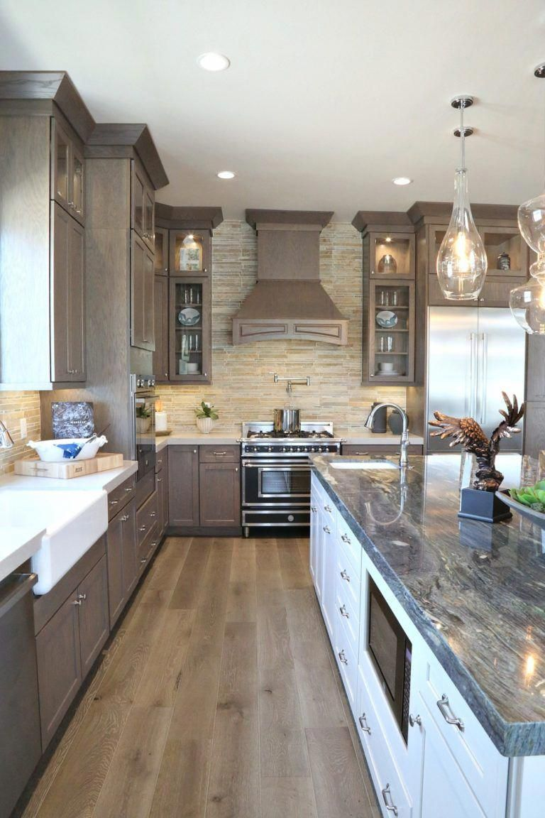 Stained wood kitchen Decoratingkitchen New