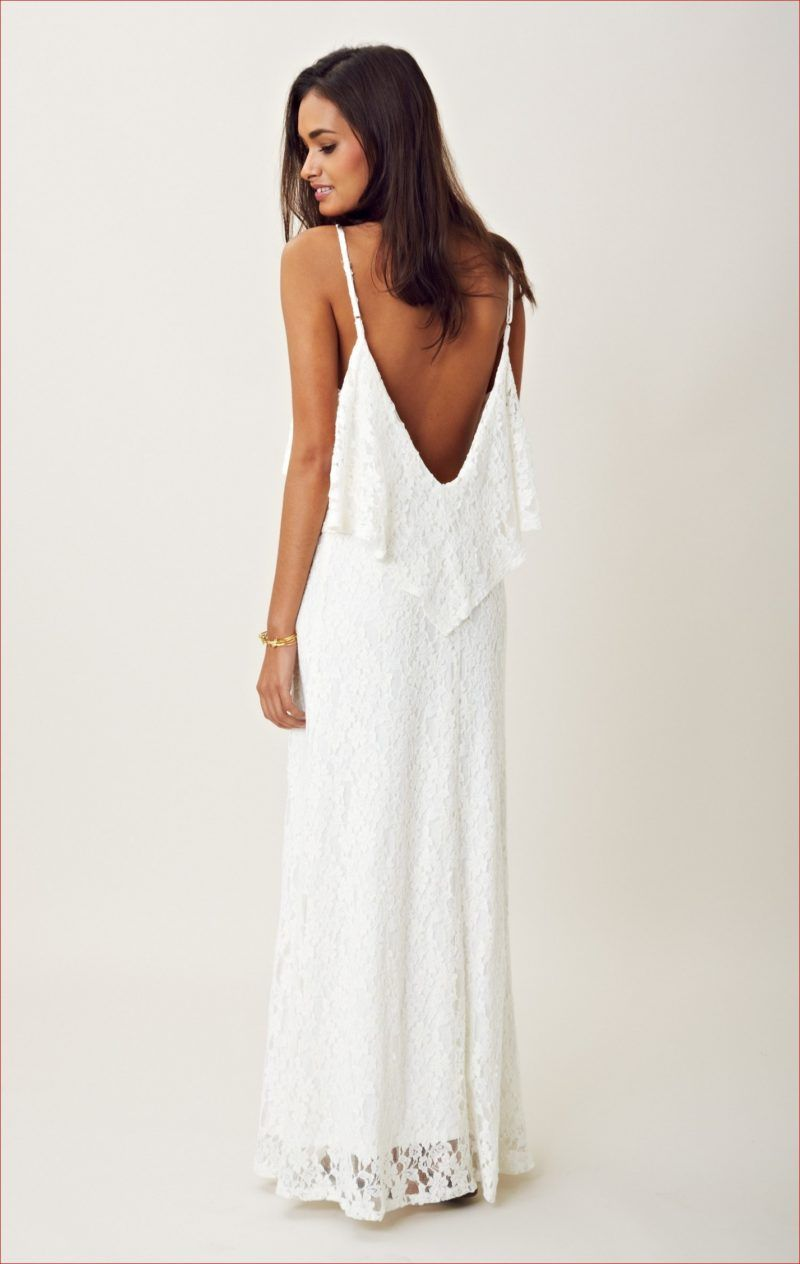 Long White Maxi Summer Casual Wedding Dress | Perfect Casual ...