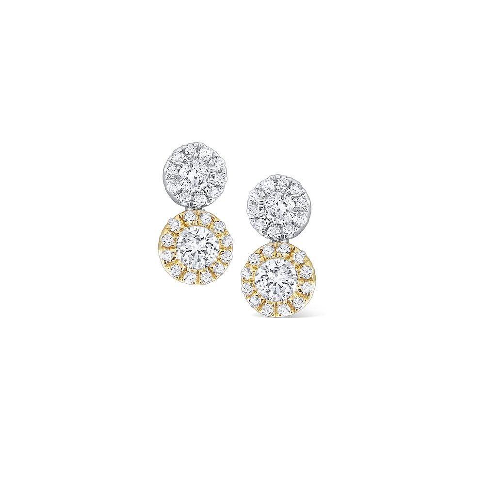 When Two Is Better Than One Doublestudearrings Whiteandyellowgold Goeswitheverything Crandco Finejewe Double Stud Earrings Luxury Jewelry Earrings
