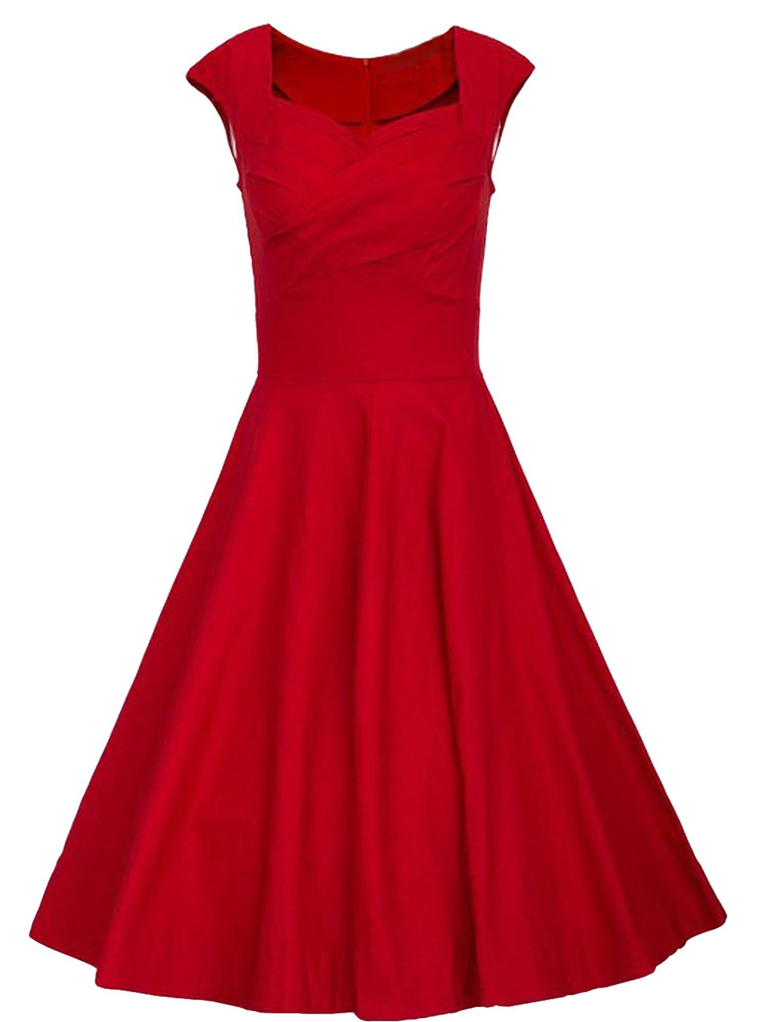 Luouse \'Lana\' Vintage 1950\'s Inspired Rockabilly Swing Dress at ...