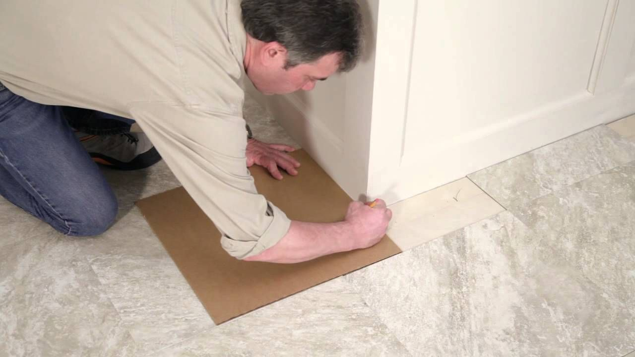 How To Replace A Kitchen Floor How To Install Peel Stick Tiles Video Home Decor Diy