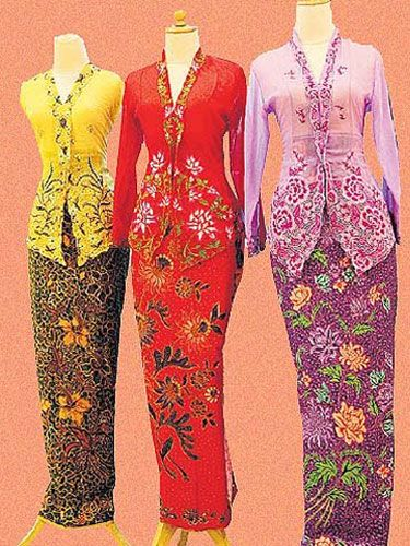crochet pink modern peplum baju kurung  Raya 2015
