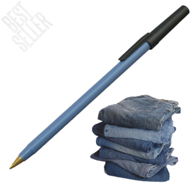 Stick Pen made from 30 Recycled Denim and 70 Recycled