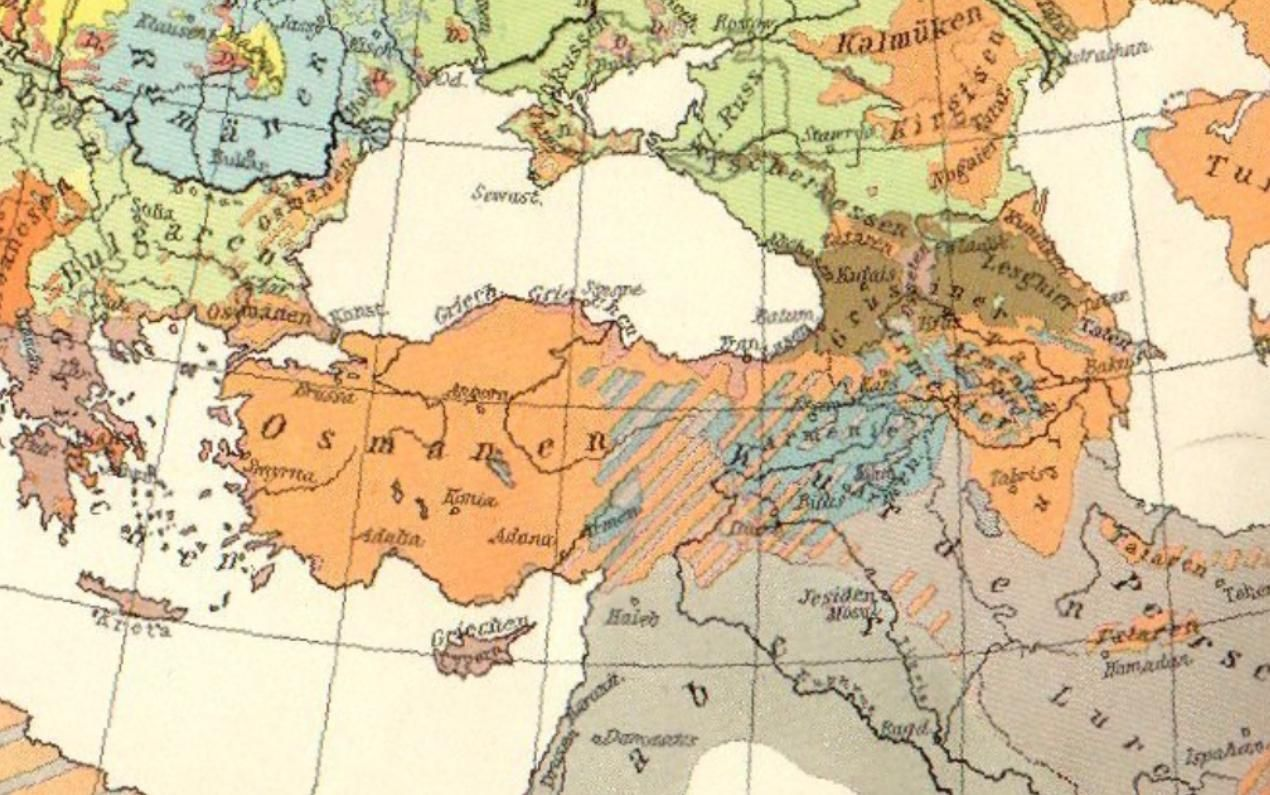 German ethnographic map of asia minor and caucasus in 1914 german ethnographic map of asia minor and caucasus in 1914 armenians are labeled in blue the majority of the armenian population was concentrated in the gumiabroncs Choice Image