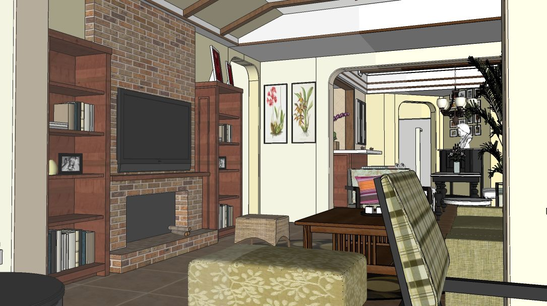 1020 Interior Classic Scene Sketchup Model Free Download