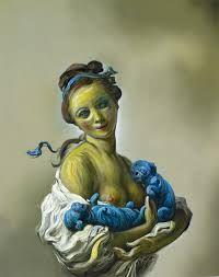 Oil painting of Dan Brown