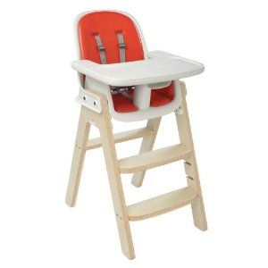 OXO Tot Sprout Chair. recommended by a friend who said it's a good size, grows with your child, and has over-shoulder straps that keep an adventurous toddler securely seated. i really like how it looks. decided it was far too pricey, though. $249.99