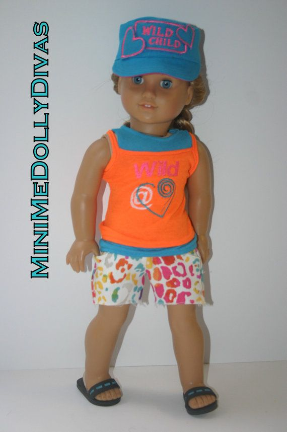 Wild at heart 4 piece outfit to fit your 18 by MiniMeDollyDivas, $25.00