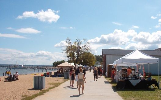 The Colonial Beach Boardwalk During One Of Arts And Crafts Fair Events