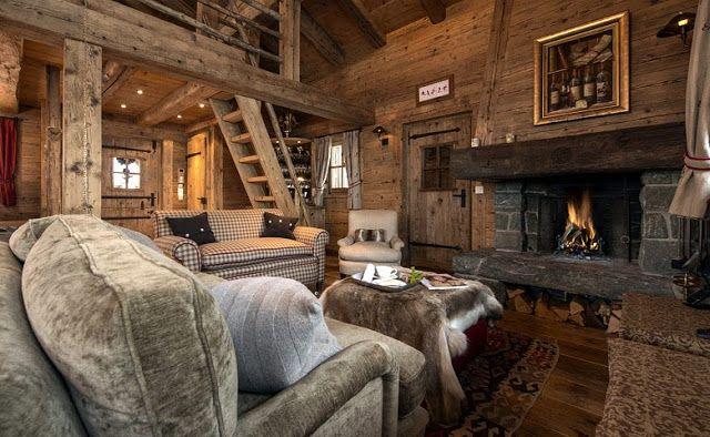 Interior rustico chic casa de monta a caseta casas de - Apartamentos de montana ...