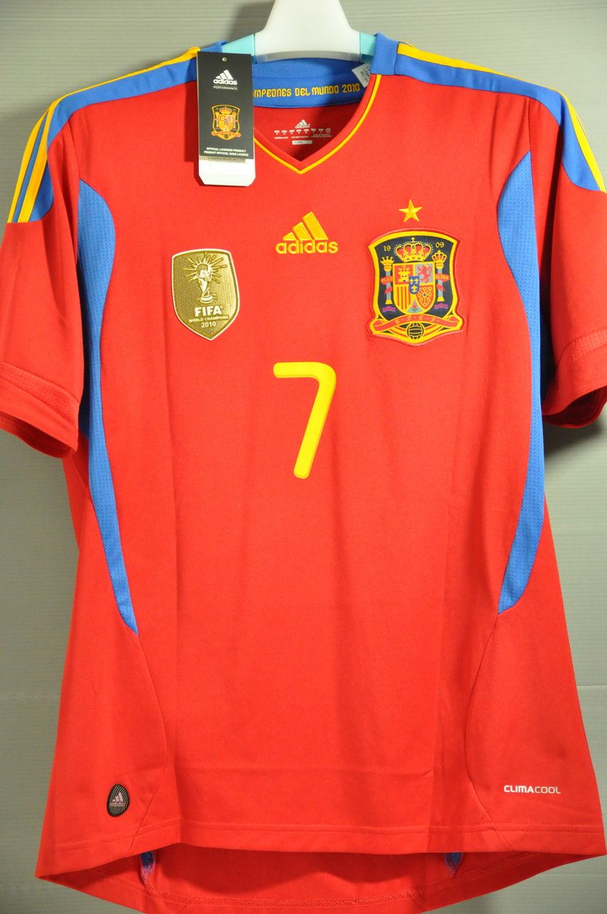 Spain DAVID VILLA National Football Team Home Jersey Shirt World Cup Euro  Champion 2011 64c19e61f