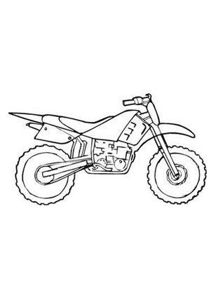 Ausmalbilder Cross Motorrad Kostenlos Color