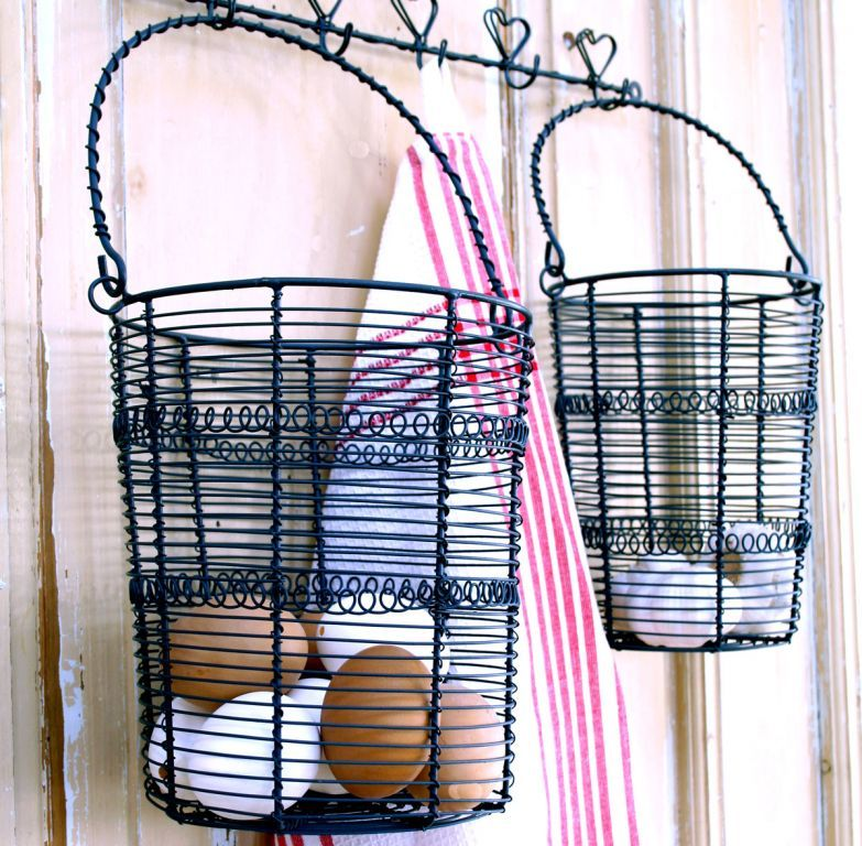 Drôtený košík - natur