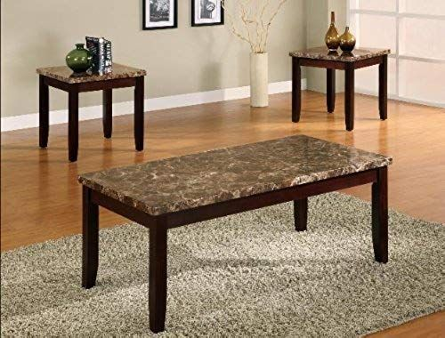 New 3 Pk Ferrara Coffee Table End Tables Cocktail Set Marble Top Online In 2020 Living Room Furniture Furniture Direct Coffee End Tables