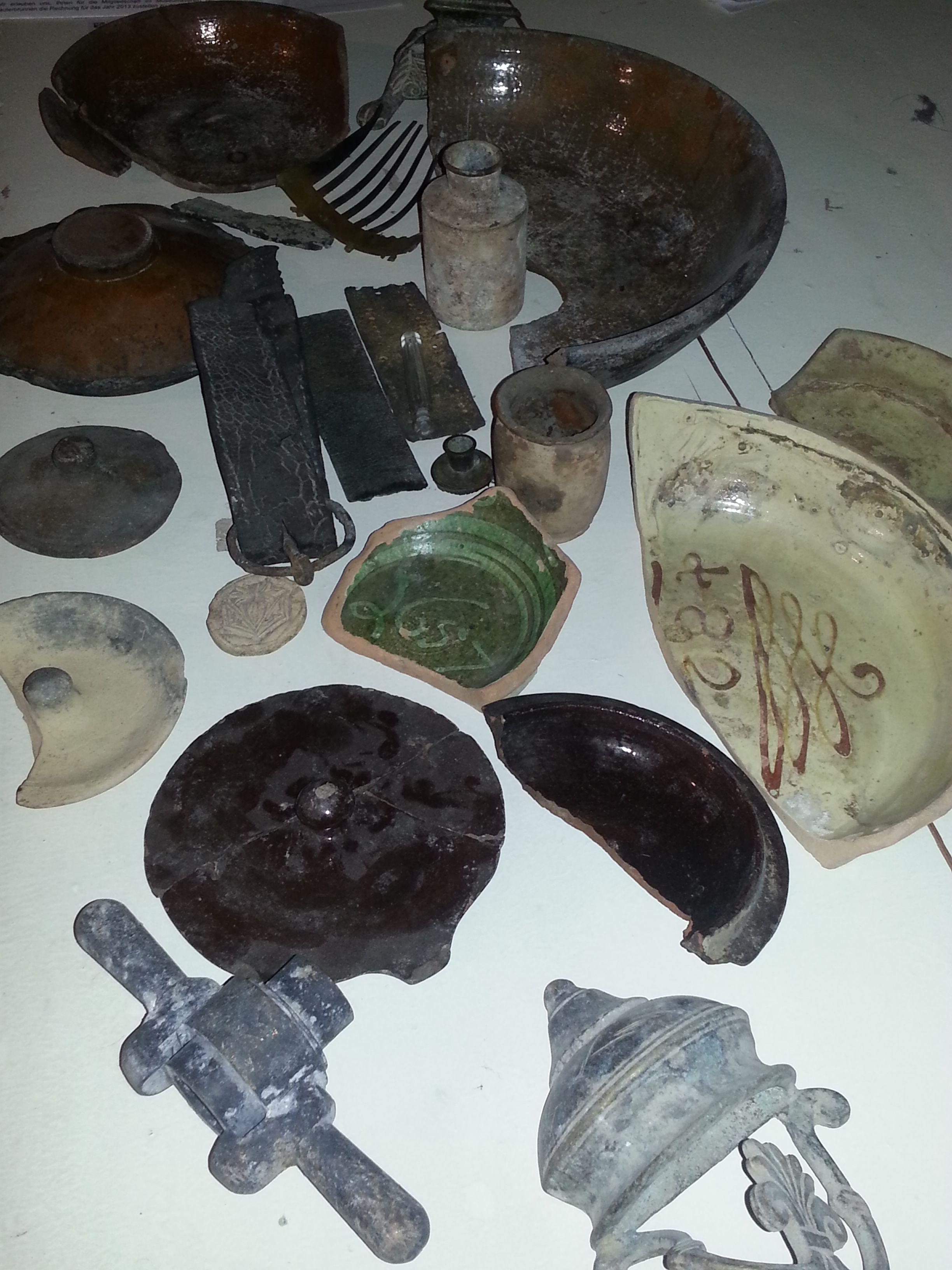 Meine Fundstücke aus dem Bodensee bei Niedrigwasser.
