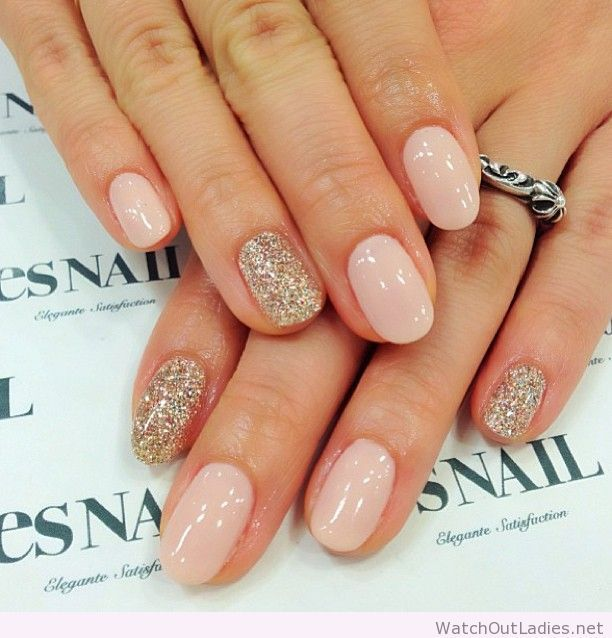 Nude nails google sgning negle pinterest nude nails amazing nude nails with glitter prinsesfo Choice Image