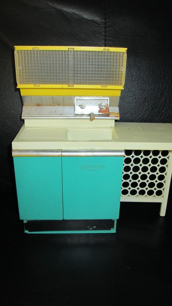 Vintage Kitchen Sink Cabinet rare vintage penny brite doll kitchen sink cabinet topper toys