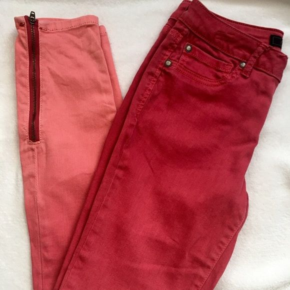 JESSICA SIMPSON kiss me skinny ankle 98%cotton 2% spandex Machine washable. Ankle zippers intact Jessica Simpson Pants Skinny