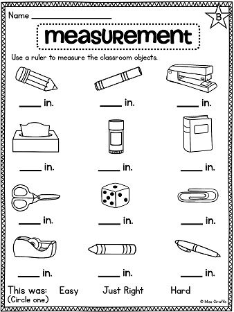 Grade 1 math worksheets measurement