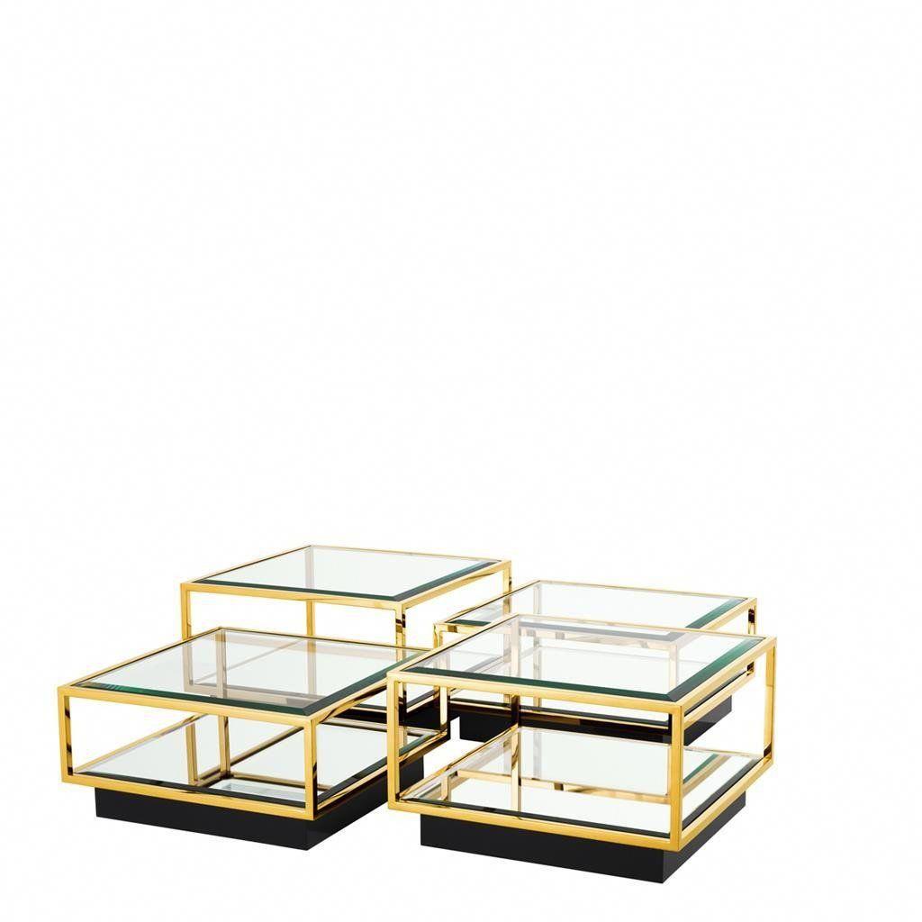 Gold Coffee Table Eichholtz Tortona Gold Coffee Table 4 Piece Coffee Table Set Coffee Table
