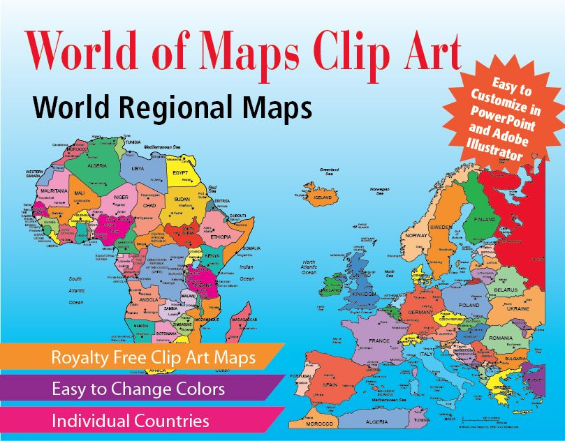 World of Maps Editable Clip Art Download Collection Adobe