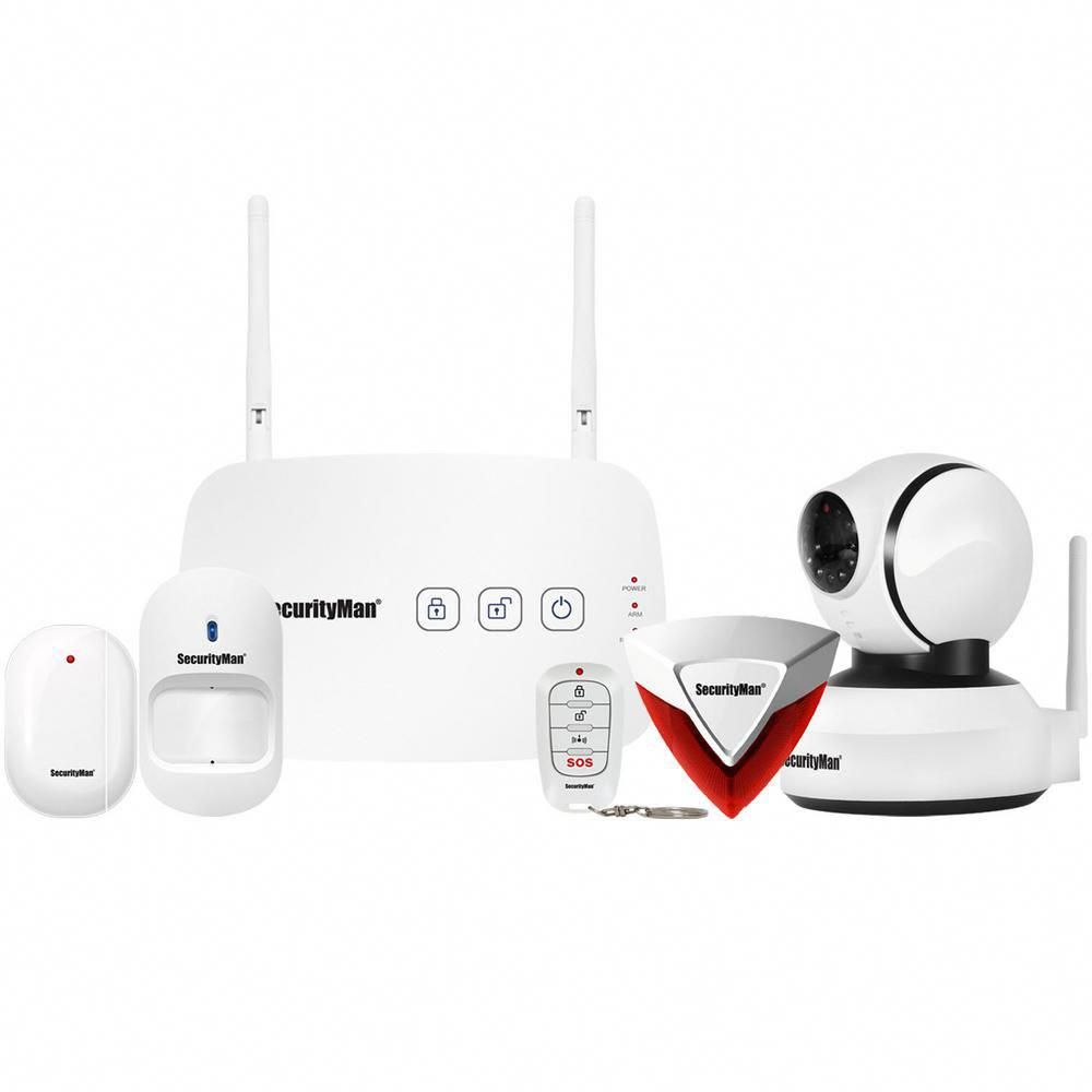 Camera Exterieur Kerui Mobile App Based Wireless Home Security Alarm System With Pan Tilt