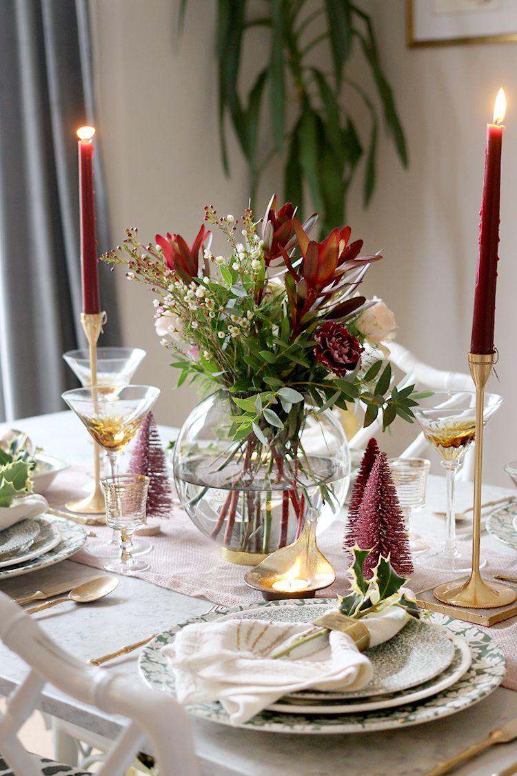 My 2018 Christmas Dinner Table Setting Swoon Worthy Christmas Dinner Table Dinner Table Setting Pink Christmas Table