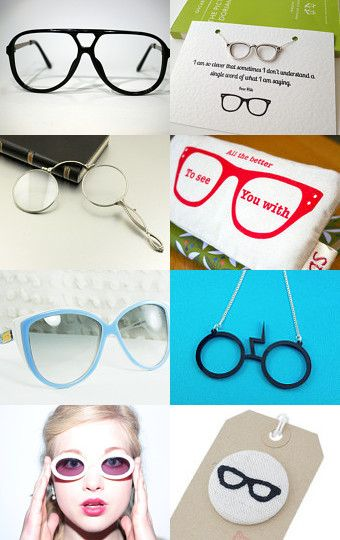 designer, vintage and geek glasses --Pinned with TreasuryPin.com