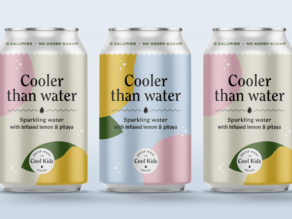 Cooler Than Water Bottle Design Packaging Drinks Packaging Design Sparkling Water Packaging