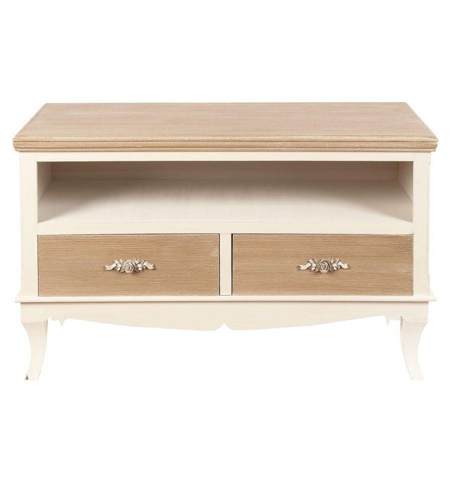 Cajones de madera mueble tv cajones madera blanco envejecido vintage fleur mqmmueble tv - Muebles blanco envejecido ...