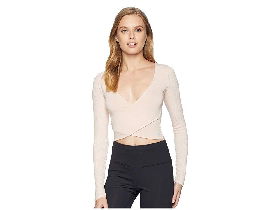 097b314e76 ALO Amelia Long Sleeve Crop Top (Nectar) Women s Clothing. Perfectly paired  over your