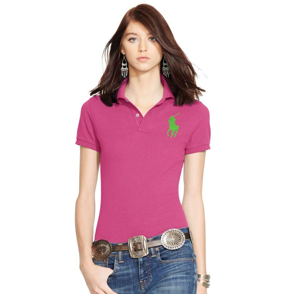 Skinny-Fit Big Pony Polo Shirt - Polos Tops & Polos - RalphLauren.com